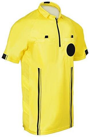 New! 2018 Soccer Referee Jersey (2018 Yellow, Adult Medium)