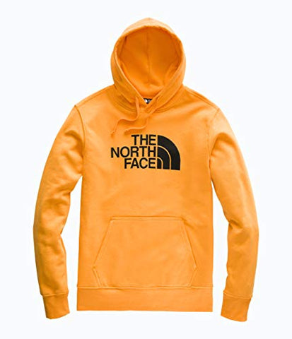 The North Face Mens Half Dome Pullover Hoodie, Zinnia Orange/Tnf Black, Size Xl