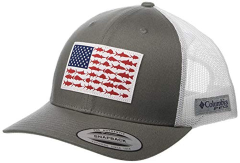 Columbia Unisex Pfg Mesh Snap Back Fish Flag Ball Cap