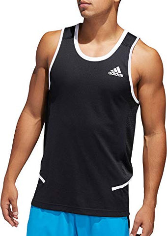 Adidas Men'S Active Tank Black/White Medium