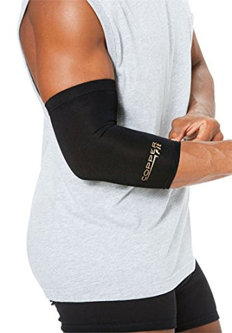 Copper Fit Men'S Big &Amp; Tall Compression Elbow Sleeve, Black