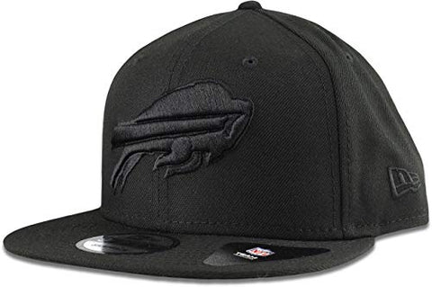 New Era Buffalo Bills Hat Nfl Black On Black 9Fifty Snapback Adjustable Cap Adult One Size