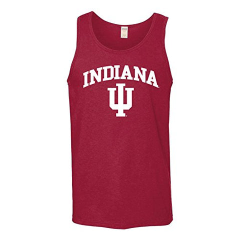 Ugp Campus Apparel Indiana Hoosiers Arch Logo Mens Tank Top - Large - Cardinal Red