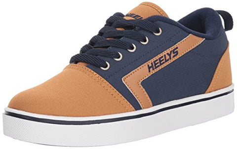 Heelys Boys' Gr8 Pro Tennis Shoe, Navy/Cashew, 3 Medium Us Big Kid