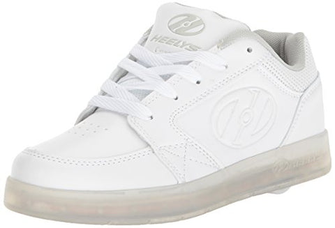 Heelys Unisex-Kids Premium Lo Wheeled Heel Shoe,White,1 M Us Little Kid