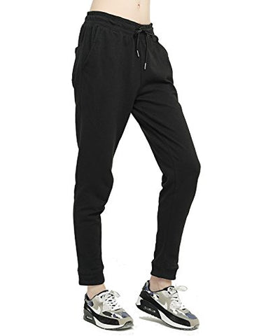 T-Inside Sweatpants With Pockets Women'S Leisure Black Joggers Pants