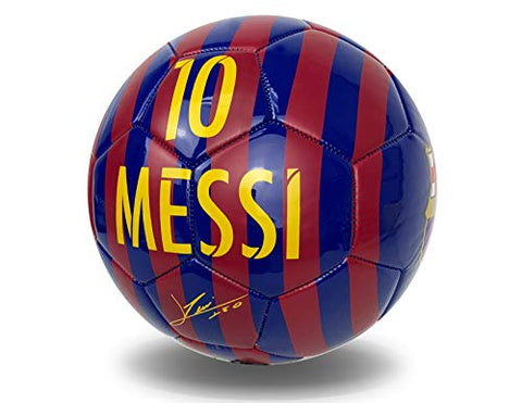 Messi Signature Soccer Ball Size #4, Fc Barcelona Messi Ball With Name, Number And Signature,