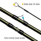 Anglerdream 8' 4'' 3Wt Archer Fly Fishing Rod 4 Section 3Wt With Cordura Tube Graphite Im 10 / 36T Carbon Fiber Dark Green Fly Rod