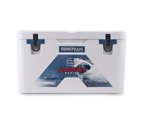 Siberian Coolers Alpha Pro Series 85 Quart In White Bear Resistant Includes Accessories