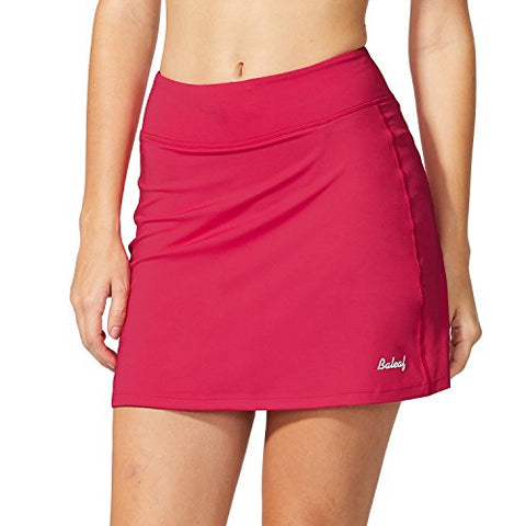 Baleaf Women'S Active Athletic Skort Lightweight Skirt With Pockets For Running Tennis Golf Workout Deep Pink Size M