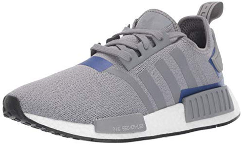 Adidas Originals Men'S Nmd_R1 Running Shoe, Grey/Active Blue, 10 M Us