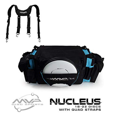 Mvp Disc Sports Nucleus Tournament Disc Golf Bag With Quad Straps - Teal