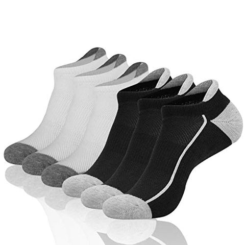 Heatuff Womens Low Cut Ankle Athletic Socks Cushioned Running No Show Breathable Tab Sock