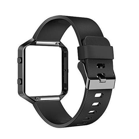 Aiunit Compatible Silicone Bands Applicable Fitbit Blaze Accessories Wristbands Women Men Girls Boys,Gray Stripe Texture No Tracker