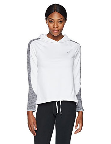 Under Armour Women'S Coldgear Armour Pullover, White (100)/Metallic Silver, X-Large