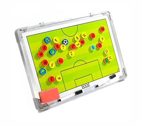 Wrzbest Football Soccer Coaching Board Coach Tactic Strategy Board Match Plan &Amp; Training Aid Whiteboard Clipboard Coach Equipment (W Style)