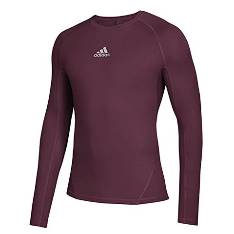 Adidas Training Alphaskin Sport Long Sleeve Tee, Maroon, Medium