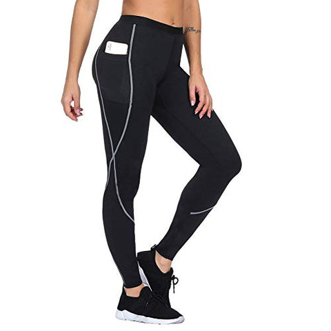 Women Neoprene Workout Pants Body Shaper Sweat Sauna Suit For Weight Loss Exercise Leggings Hot Slimming Yoga Capris S
