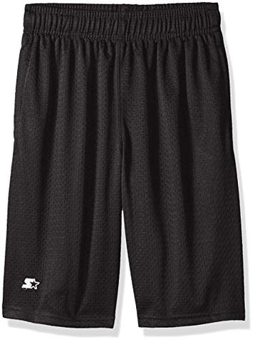 Starter Boys' Mesh Short With White Logo, Grey, Xs (4/5)