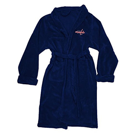 Officially Licensed Nhl Washington Capitals Men'S Silk Touch Lounge Robe, Large/X-Large