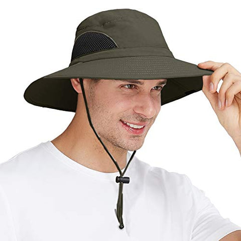 Sun Hat Wide Brim Breathable Outdoor Boonie Hats For Men &Amp; Women Hiking, Fishing, Camping, Boating &Amp; Safari