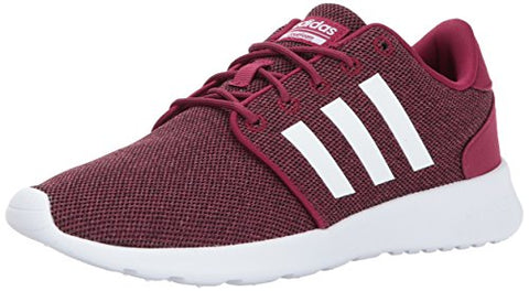 Adidas Women'S Cf Qt Racer Running Shoes, Mystery Ruby/White/Black, (11 M Us)