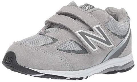 New Balance Boys' 888V2 Hook And Loop Running Shoe, Grey, 9 M Us Toddler