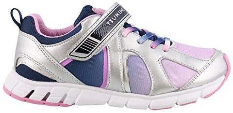 Tsukihoshi Girl'S, Rainbow Athletic Sneakers Silver Blue 2 M