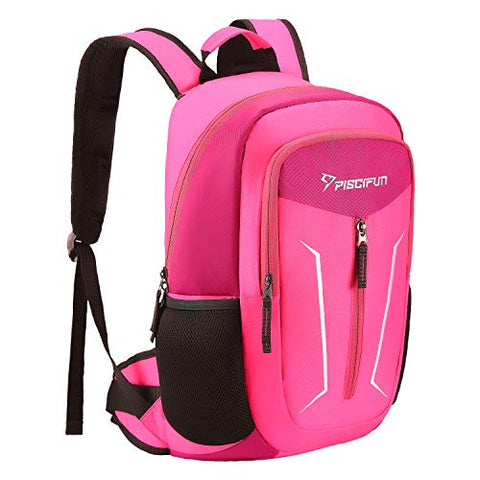 Piscifun Cooler Backpack - Leakproof Insulated Cooler Bag - Soft Lightweight Backpack Cooler For Men &Amp; Women - Keeps Food And Drinks Cold - For Picnic, Fishing, Hiking, Camping, Park, Day Trip Pink