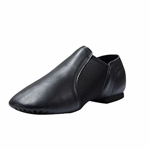 Dynadans Leather Upper Slip-On Jazz Shoe (Big Kid/Little Kid/Toddler) 6.5M Big Kid Black