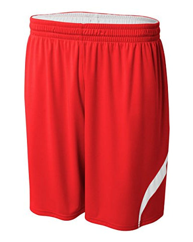 Red/White Youth Lg Reversible All Sports Shorts