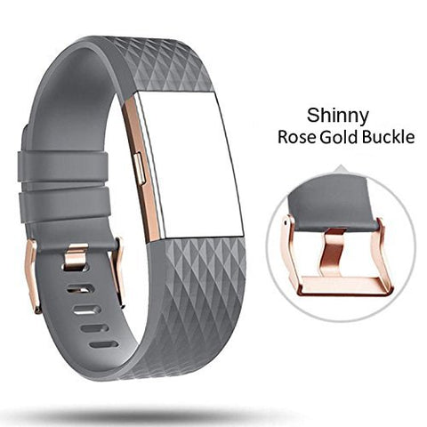 Db For Fitbit Charge 2 Bands Rose Gold Buckle,Charge 2 Sport Replacement Bands Lavender, Fitbit Charge 2 Accessory Wristbands Large