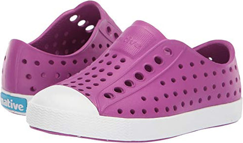 Native Kids Shoes Baby Girl'S Jefferson (Toddler/Little Kid) Origami Purple/Shell White 6 M Us Toddler