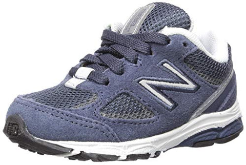 New Balance Boys' 888V2 Running Shoe, Navy/Grey, 9 M Us Toddler