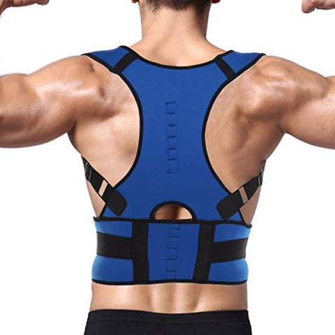 Fittoo Fully Adjustable Magnetic Clavicle Shoulder Lumbar Orthopedic Back Support Brace For Posture Corrector And Back Pain