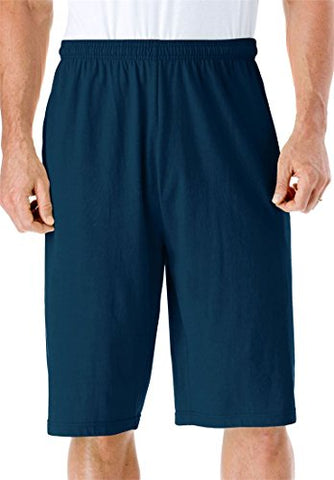 Kingsize Men'S Big &Amp; Tall Lightweight Extra Long Shorts, Navy Tall-5Xl