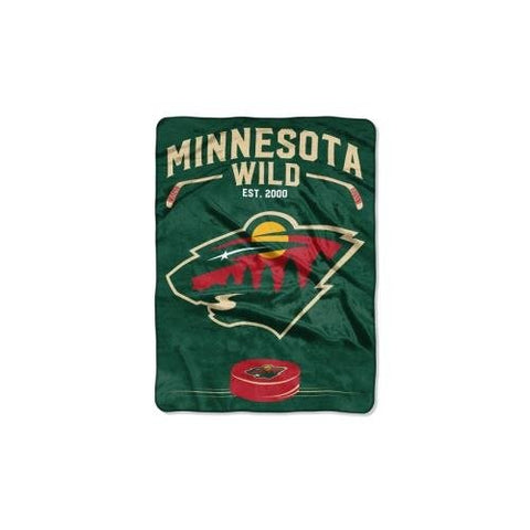 The Northwest Company Officially Licensed Nhl Minnesota Wild Inspired Plush Raschel Throw Blanket, 60  X 80