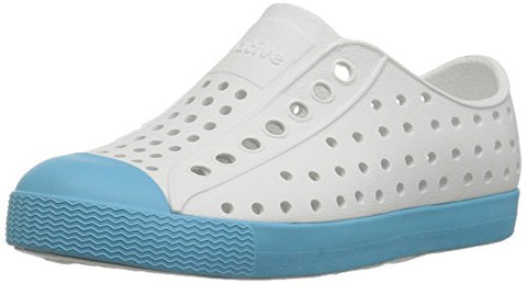 Native Kids Jefferson Water Proof Shoes, Shell White/Surfer Blue, 13 Medium Us Little Kid