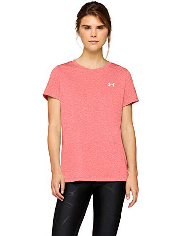 Under Armour Women'S Tech Twist T-Shirt, Watermelon (677)/Metallic Silver, X-Large