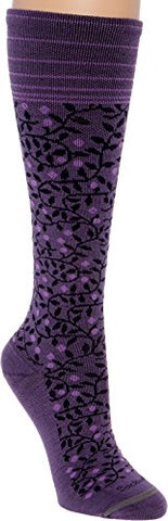 Sockwell Women'S New Leaf 20-30Mmhg Graduated Compression Socks (Plum, M/L)