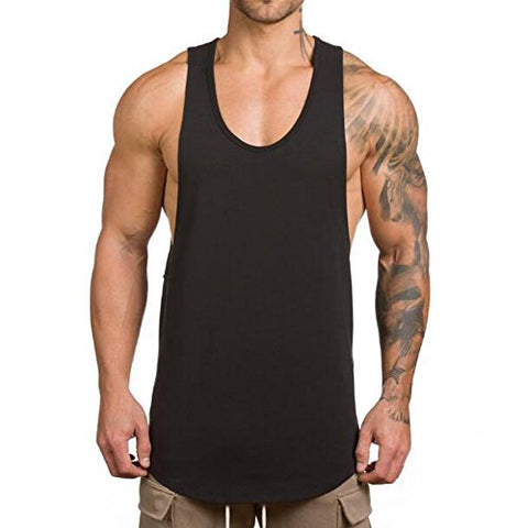 Magiftbox Men'S Muscle Gym Workout Stringer Tank Tops Bodybuilding Fitness T-Shirts T01_Black_Us-L