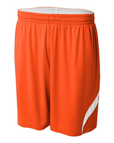 Orange/White Youth Xl Reversible All Sports Shorts