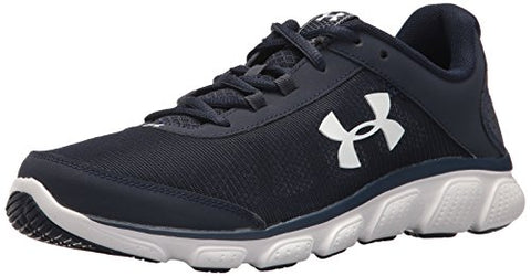 Under Armour Men'S Micro G Assert 7 Running Shoe, Midnight Navy (400)/White, 12 M