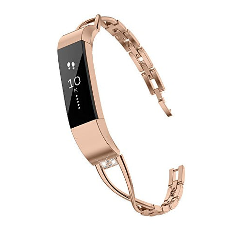Toyouths Compatible Fitbit Alta Bands And Fitbit Alta Hr Bands, Rhinestone Replacement Bands Accessories Straps Wrist Bands Bracelet For Women