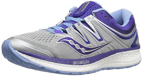 Saucony Hurricane Iso 4 Women 10.5 Grey | Blue | Purple