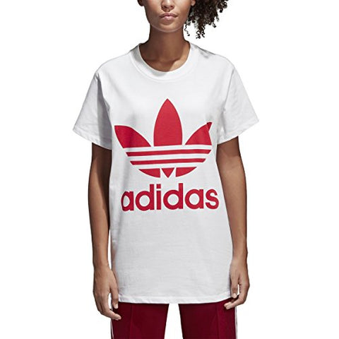 Adidas Originals Women'S Big Trefoil Tee, White/Radiant Red, M