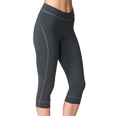 Terry Highly Rated Breakaway Performance Cycling Knickers For Women - Improved With More Padded Fleet Chamois  Charcoal  Small
