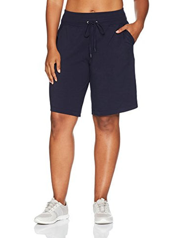 Danskin Plus Size Women'S Essential Bermuda Short, Midnight Navy, 1X