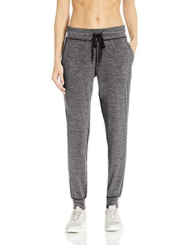 Amazon Essentials Women'S Brushed Tech Stretch Jogger Pant, Dark Grey Spacedye, Xx-Large