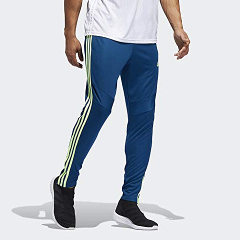Adidas Mens Soccer Tiro 19 Training Pant, Legend Marine/Hi-Res Yellow, Large